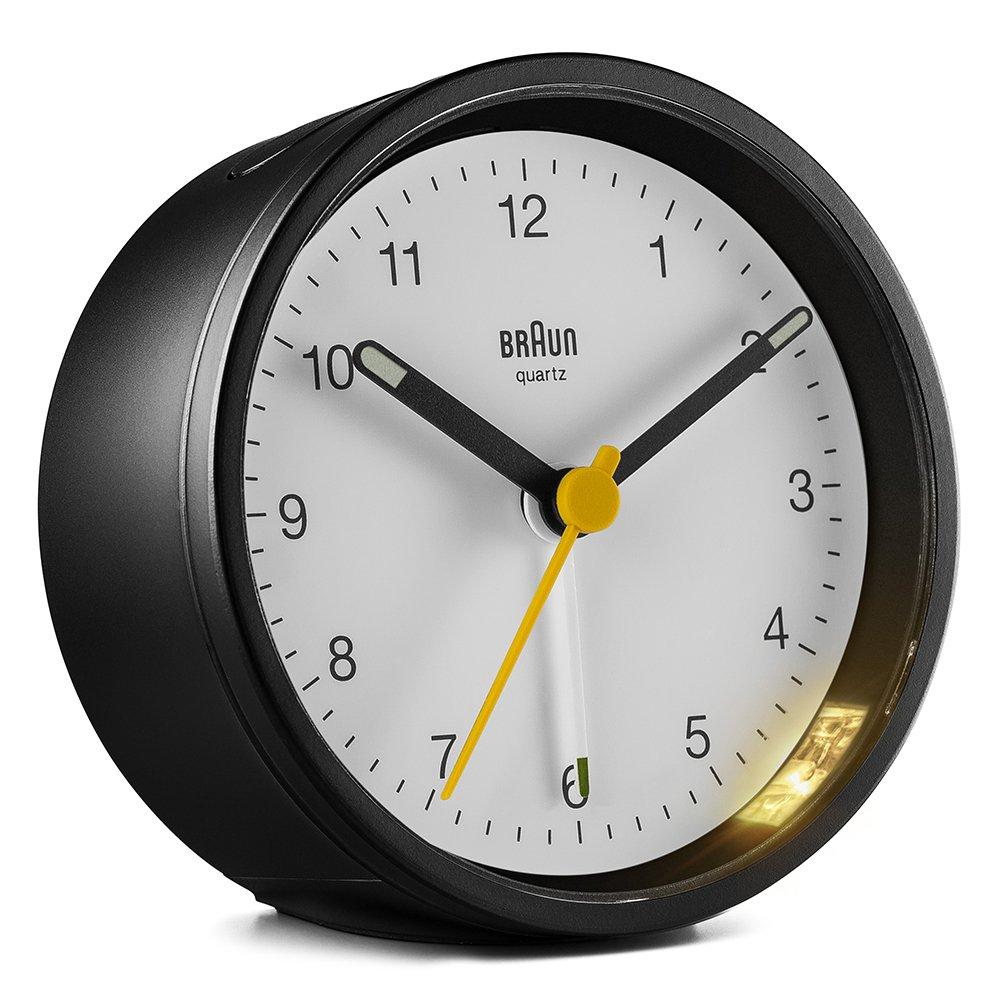 ブラウン Classic Analog Alarm Clock BC12BW