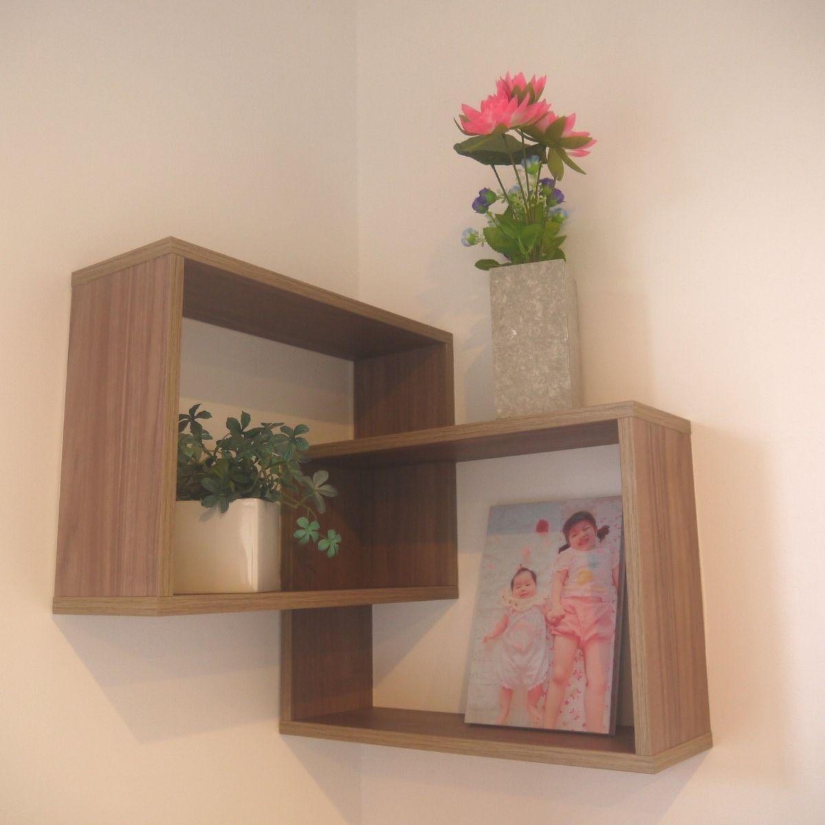グレイエルム コーナーウォールラック おしゃれ 収納  壁 コーナーシェルフ 角 飾り棚