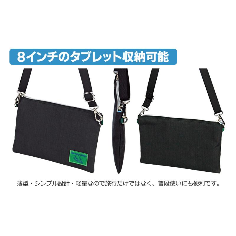 スキミング防止機能付きトラベルサコッシュバッグ【クリックポスト送料無料】