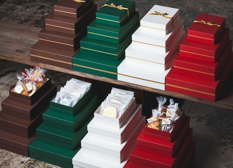 焼き菓子用 ベーシックフェザーギフトケース【S】(1セット100個入)