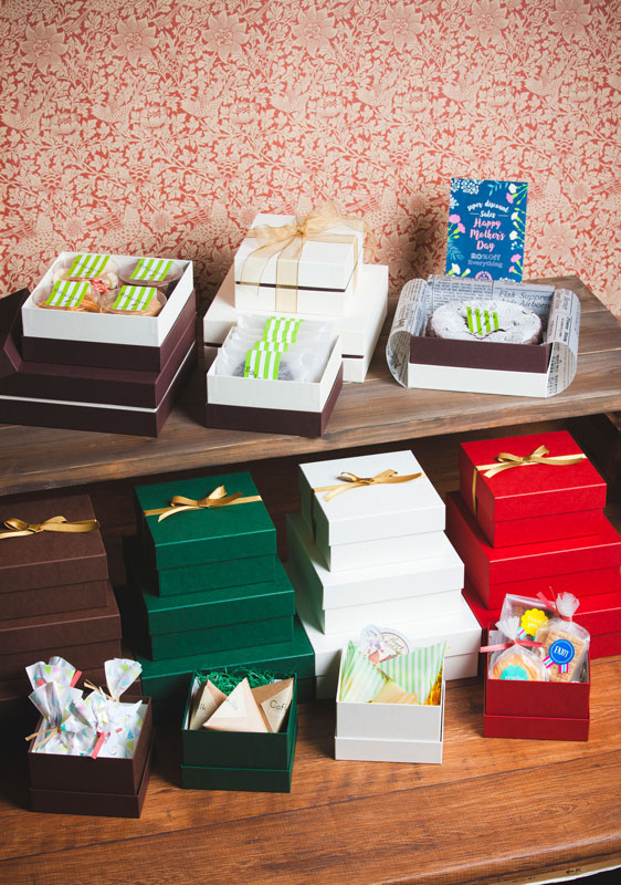 焼き菓子用ギフト箱 正方形コンビA 【M】(1セット50個入)