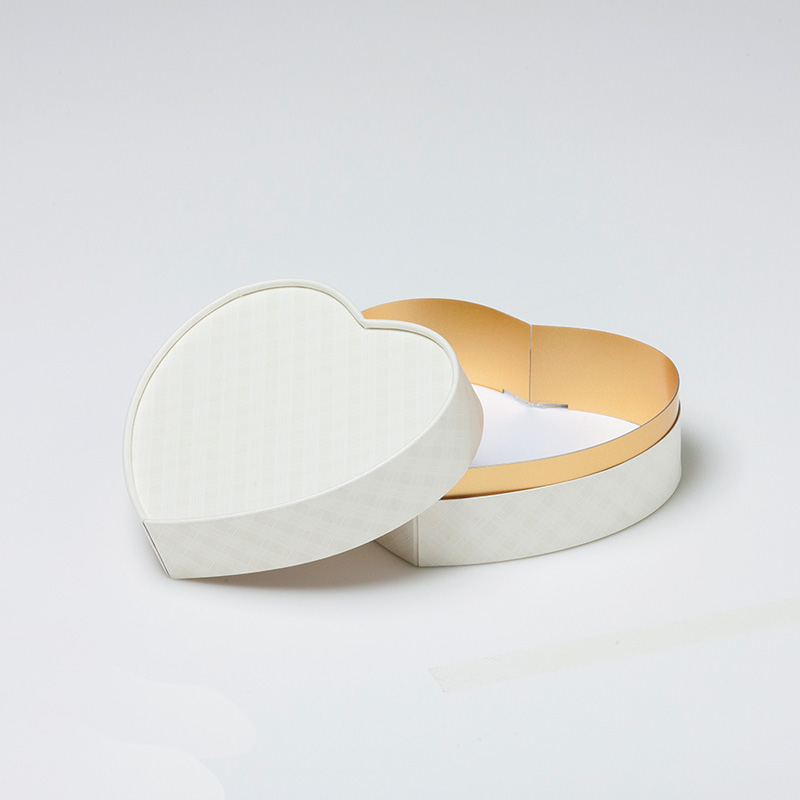 お菓子用ギフト箱 ハート型 CANCAN コンビA (1セット50個入)