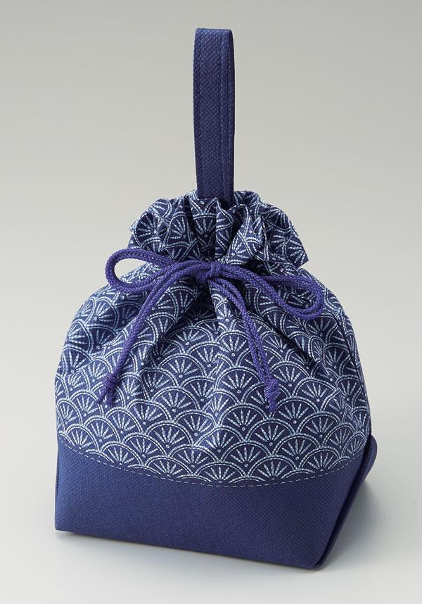 不織布和柄手提げ巾着袋 青海波(1セット50枚入)