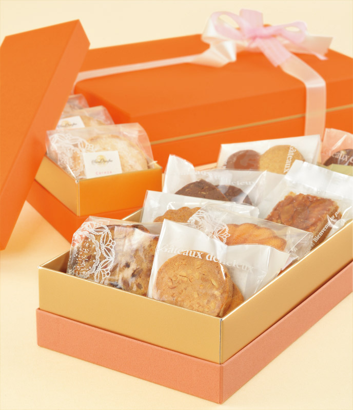 焼き菓子用ギフト箱 H50 コンビA 【L】 (1セット50個入)
