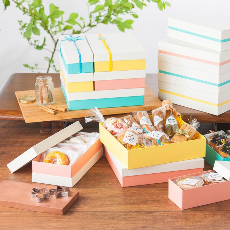 焼き菓子用 パステル コンビA ギフトケース【M】 (1セット50個入)