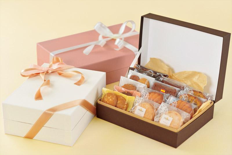 焼き菓子用ギフト箱 ヒンジ型 【LL】(1セット25個入)