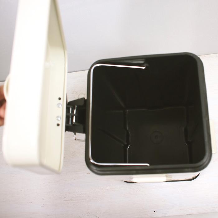 ふた付きゴミ箱<br>ペダル式ダストボックススクエア/S