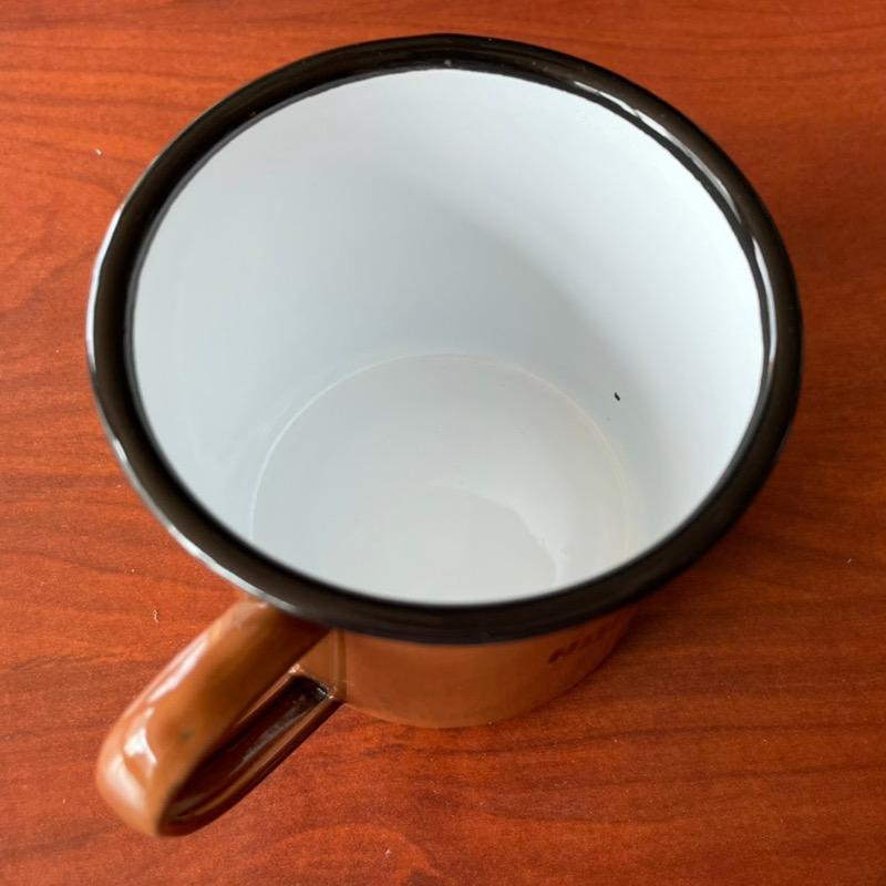 アウトレット・ホーロー【マグカップ】ブラウン