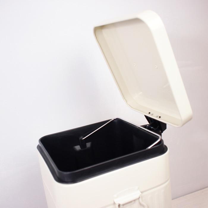 ふた付きゴミ箱<br>ペダル式ダストボックススクエア/L