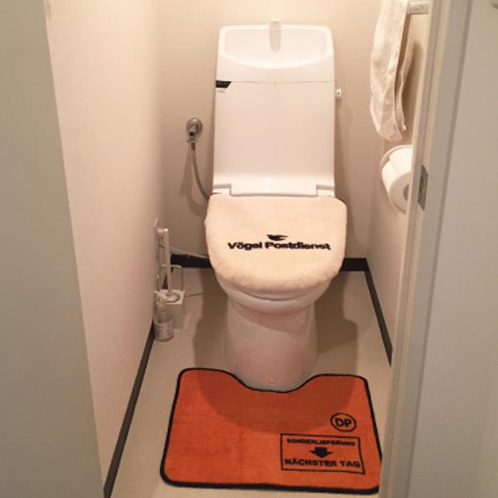 World Postal(ワールドポスタル)トイレのフタカバー<br>トイレのマット(男前!)