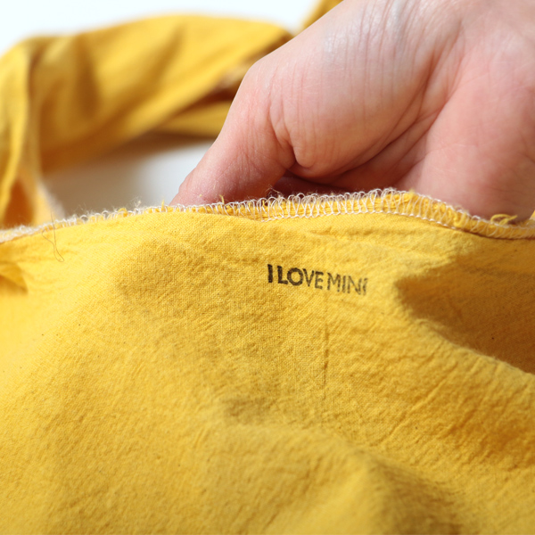 エコバッグ(折りたたみ)-おしゃれで人気の手染めエコバッグ「Vicky & Mini BAG」(Yellow)