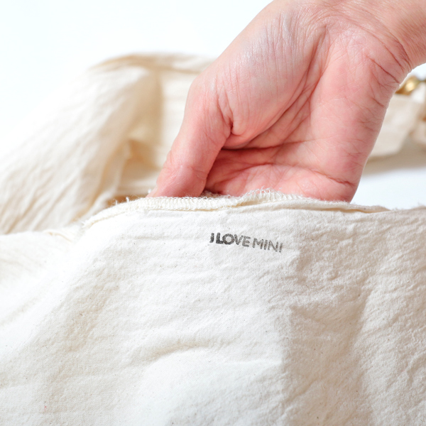 エコバッグ(折りたたみ)-おしゃれで人気の手染めエコバッグ「Vicky & Mini BAG」(Old English White)