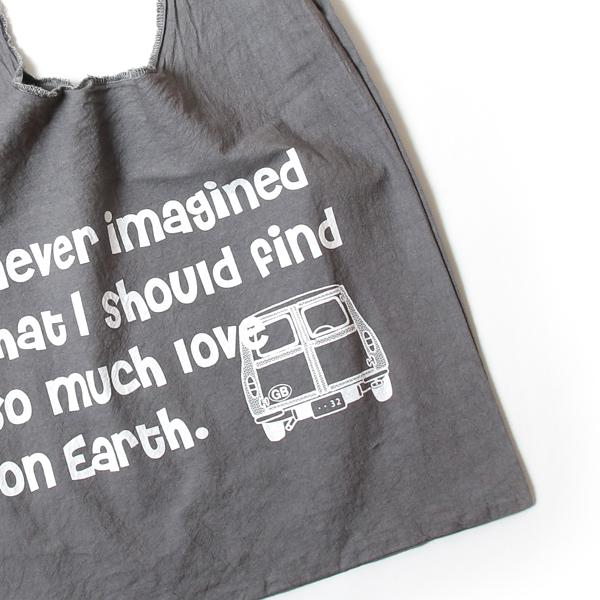 エコバッグ(折りたたみ)-おしゃれで人気の手染めエコバッグ「Vicky & Mini Estate BAG」(Tweed Grey)