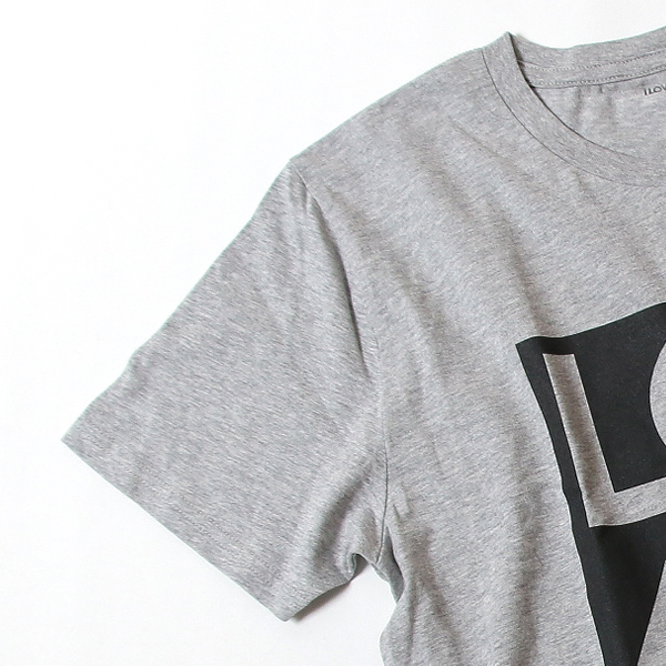 ジョンレノン ミニクーパー ナンバー オーガニックコットン「John's MINI Tシャツ」(グレー/ブラック)