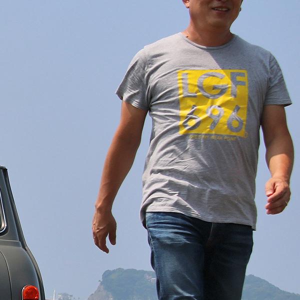 ジョンレノン ミニクーパー ナンバー オーガニックコットン「John's MINI Tシャツ」(グレー/イエロー)