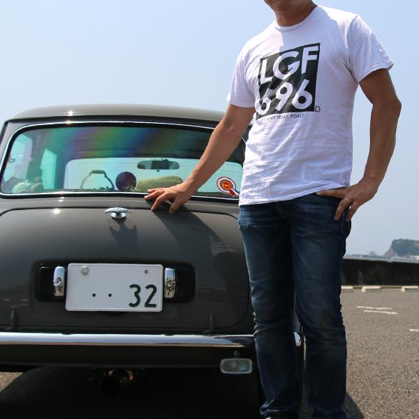 ジョンレノン ミニクーパー ナンバー オーガニックコットン「John's MINI Tシャツ」(ホワイト/ブラック)