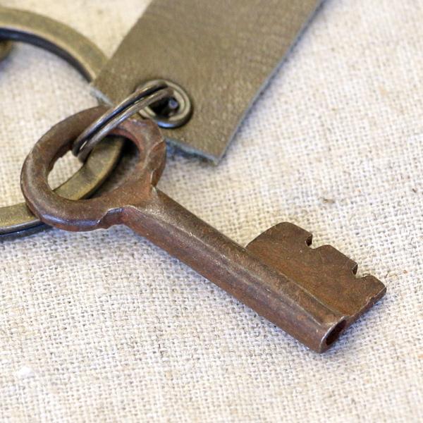 アンティークキー付きMINIキーホルダー(インドの古い鍵3)