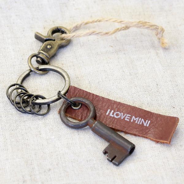 アンティークキー付きMINIキーホルダー(ベルギーの古い鍵1)