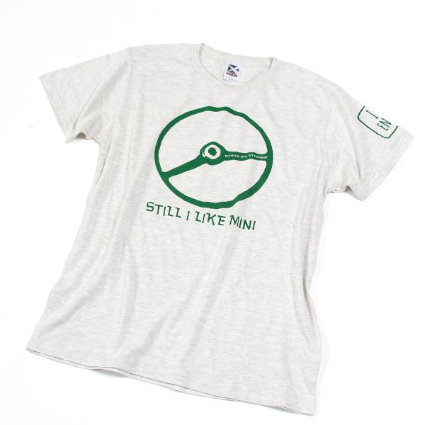 クラシックミニ ステアリング Tシャツ「Power IRU Steering Tシャツ」(アッシュ/グリーン)