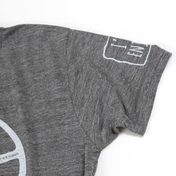 クラシックミニ ステアリング Tシャツ「Power IRU Steering Tシャツ」(チャコール/ホワイト)