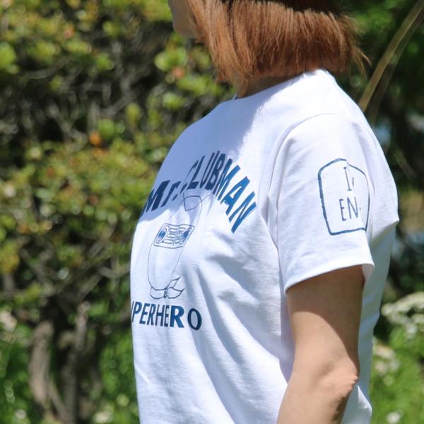 クラシックミニ クラブマン Tシャツ「CLUBMAN HERO Tシャツ」(ホワイト)