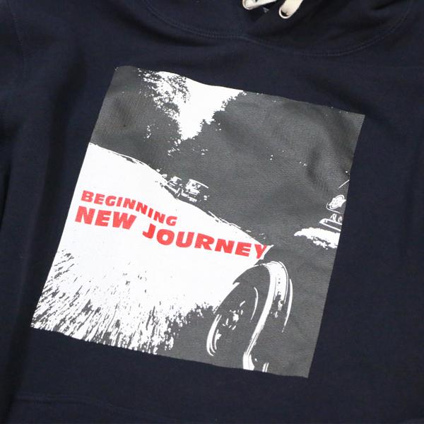 クラシックミニ ツーリングパーカー「New Journey パーカー」(ネイビー)