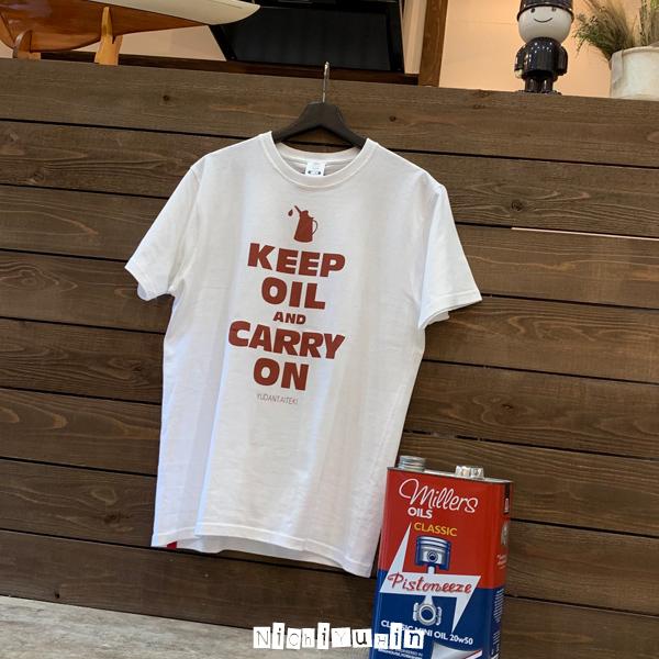 クラシックミニ オイル交換が大切「油断大敵Tシャツ」