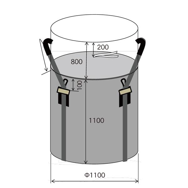 耐候性大型土のう 1年 使用荷重 2Ton 1100x1100  10枚組