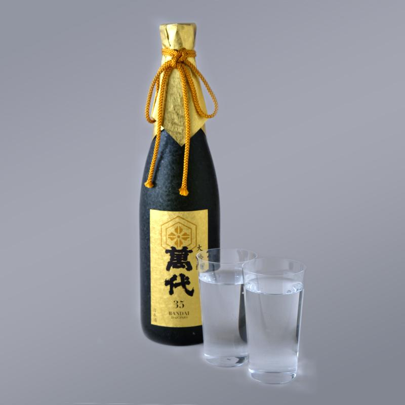 小林酒造本店「萬代大吟醸35」と「うすはりグラスタンブラー」セット