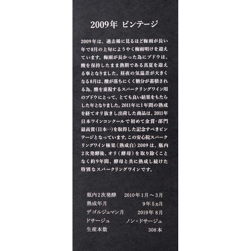 【安心院葡萄酒工房】安心院スパークリング極果(熟成白) 750ml 【限定308本】