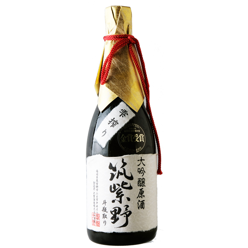【大賀酒造】 筑紫野 大吟醸酒 雫絞り 斗瓶取り原酒 720ml  (桐箱入り)