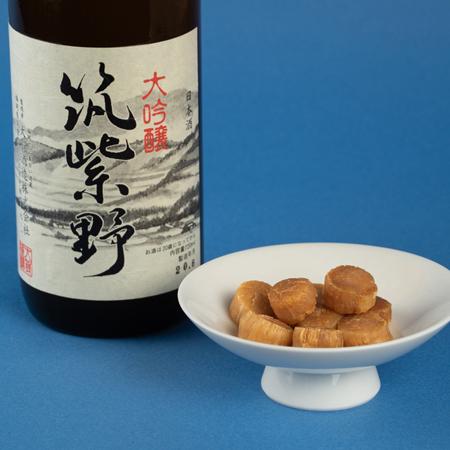 筑紫野 大吟醸酒  720ml× 北勝ほたて 干貝柱セット