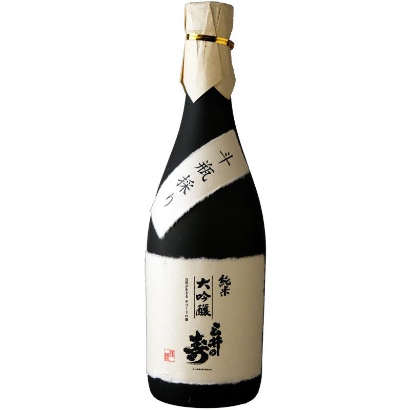 【みいの寿】純米大吟醸斗瓶採り 720ml&うすはりグラス2個セット 〔※専用の化粧箱付〕