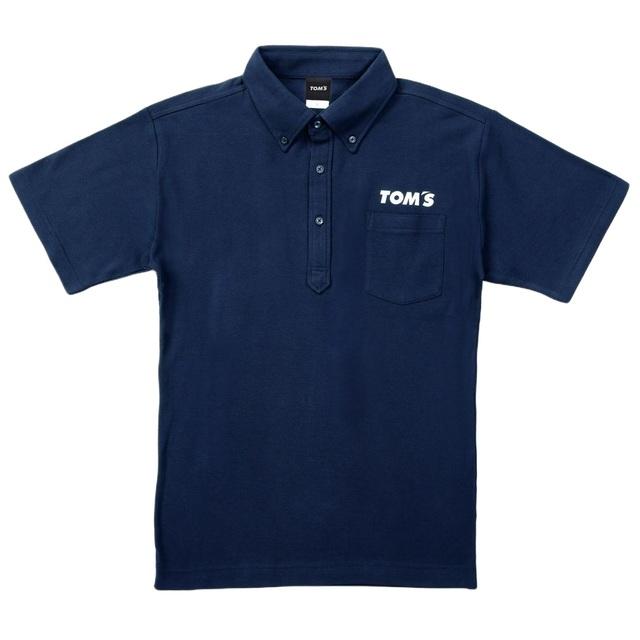 トムス半袖ポロシャツ ネイビー