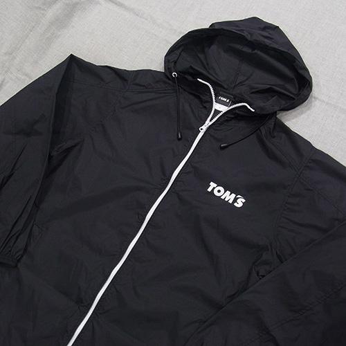 トムス ナイロンジップジャケット(黒)