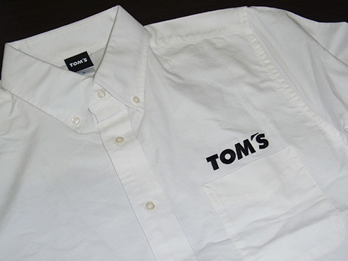 トムス 長袖オックスフォードシャツ(白)