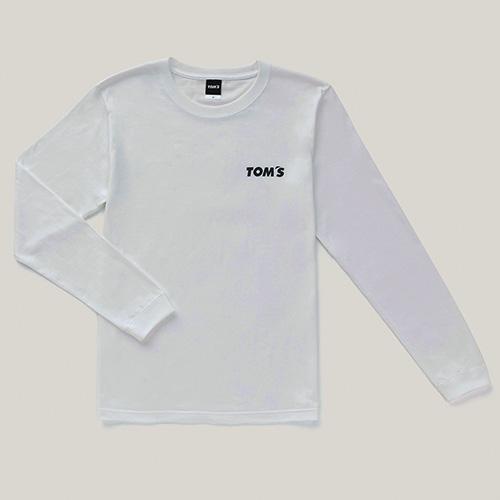 トムス 長袖Tシャツ(白)