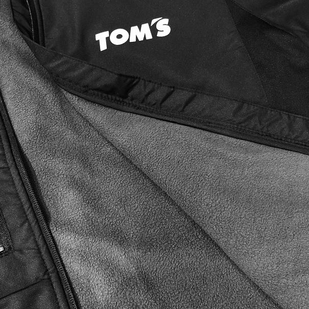 トムス 裏フリースジップジャケット(黒)