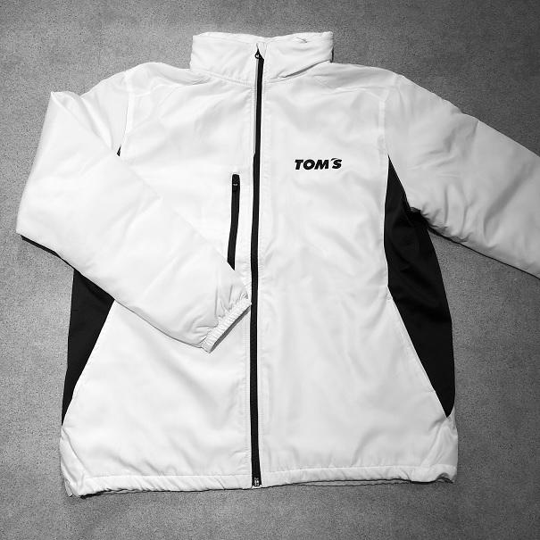 トムス 裏フリースジップジャケット(白)