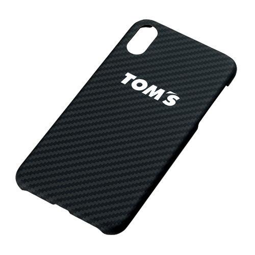 トムス iPhoneXケース(カーボンブラック)