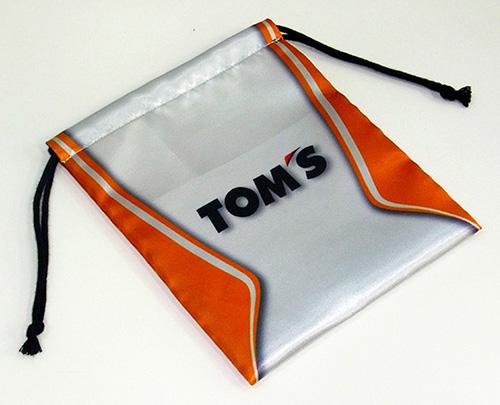 巾着 TOM'S ロゴ オレンジ