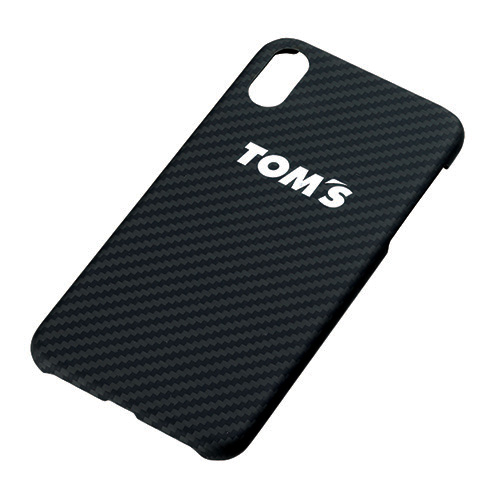 トムス iPhoneXRケース(カーボンブラック)