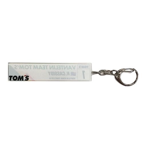 トムス SUPER FORMULA1号車 VANTELIN TEAM TOM'S チームキーホルダー