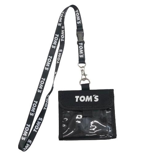 トムス チケットホルダー(黒)ネックストラップ付