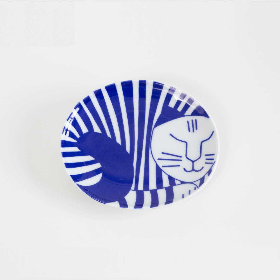ごのねこ豆皿 しまねこ[有田焼]