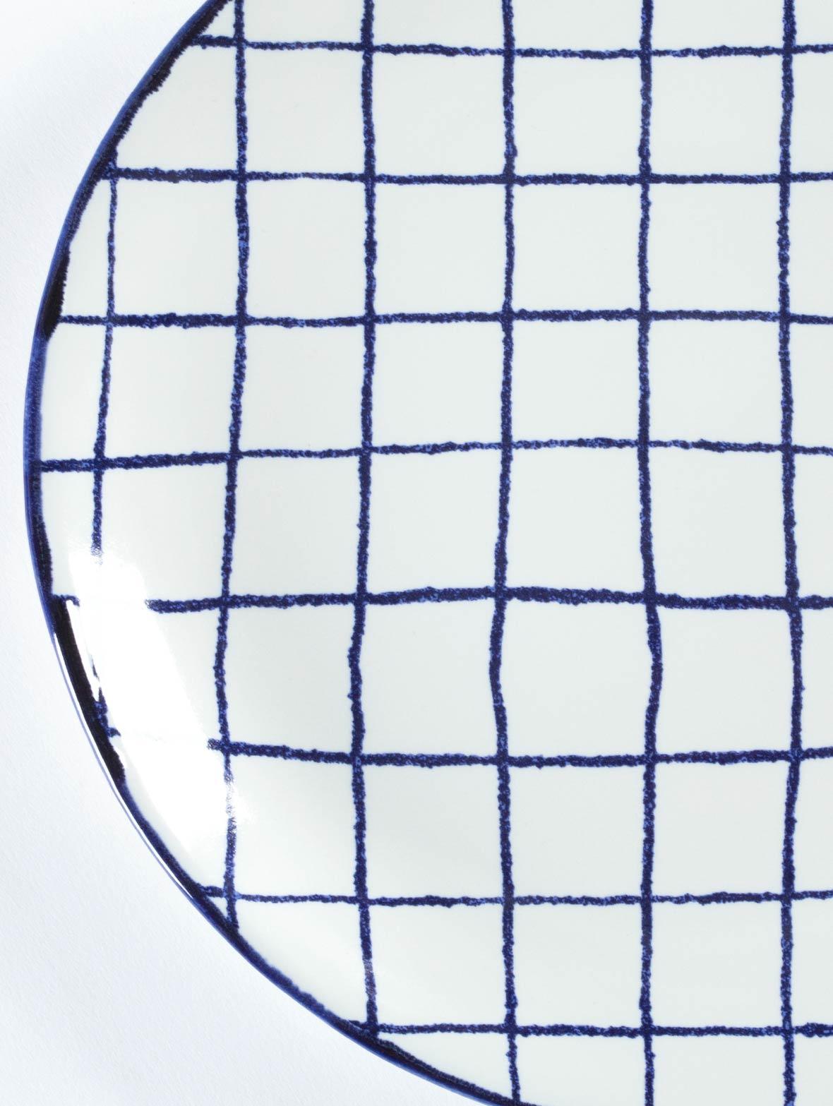 マリアンヌの丸い皿(チェックのM)