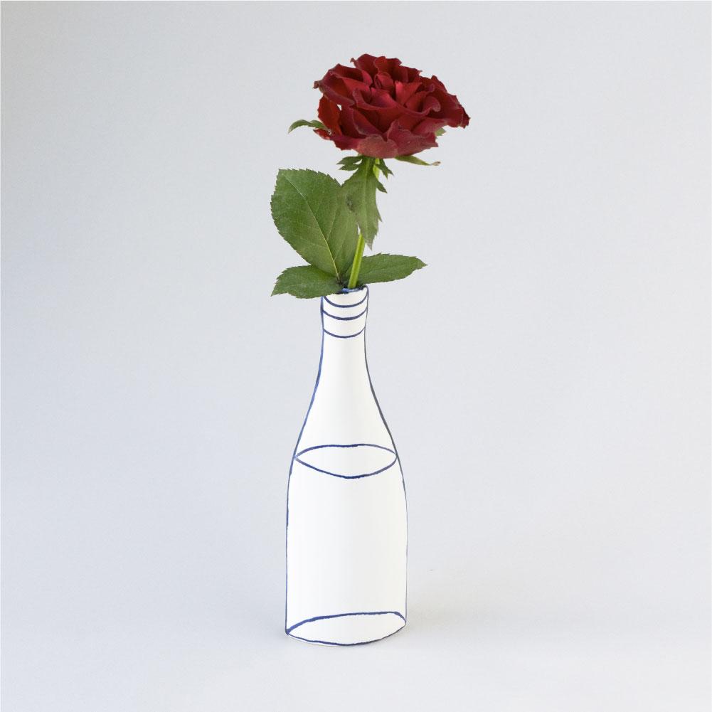 【TK】(Y)【12月中旬以降順次出荷予定】水のはいったビンのかびん(seto)