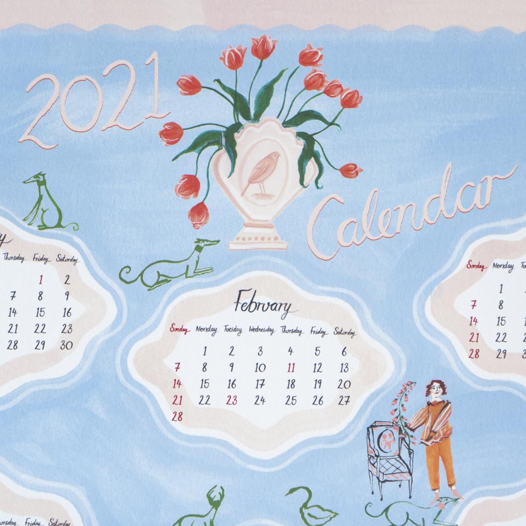 【TK】ポーリー・ファーン 2021 カレンダー