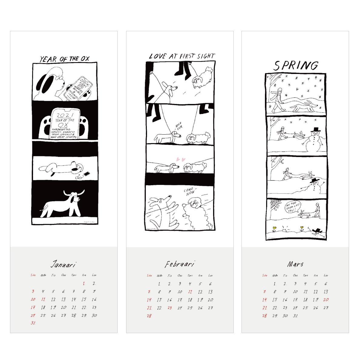 【TK】エレオノール・ボストロム 2021 カレンダー