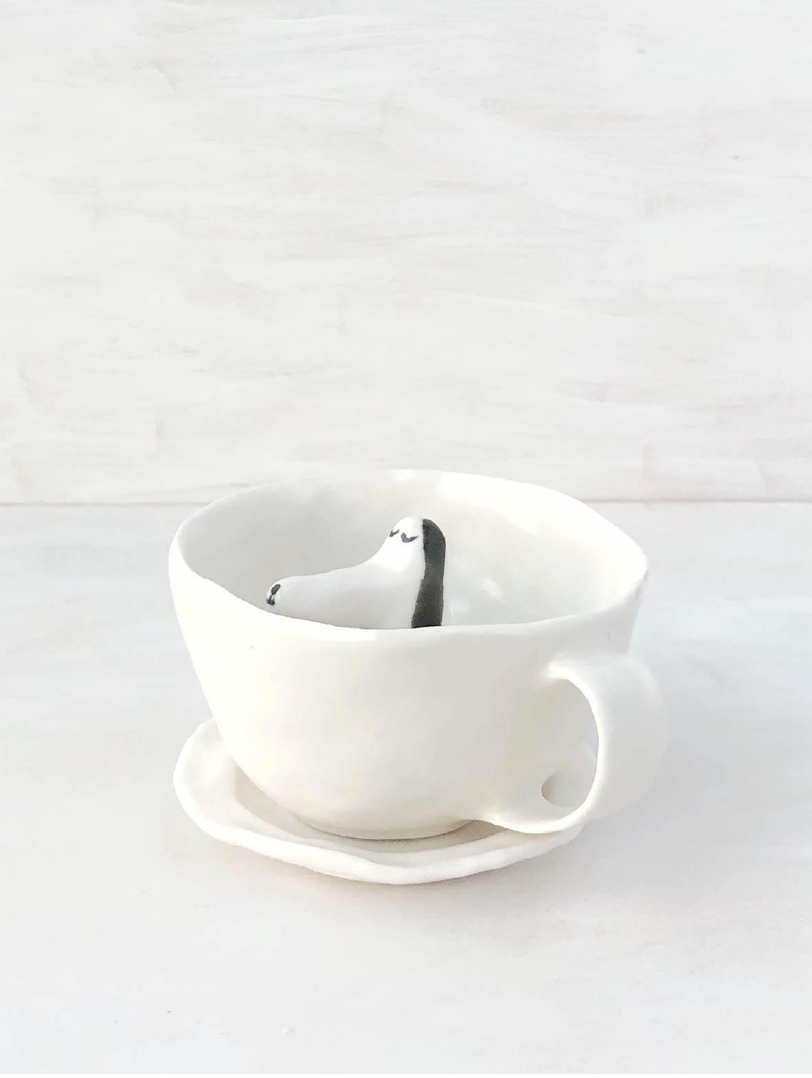 【TK】ドッグカップ(うたたねしている犬・黒)